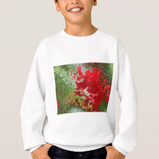Red And Green abstract Sweatshirt
