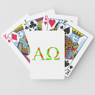 Red and Green Alpha and Omega Design Poker Deck