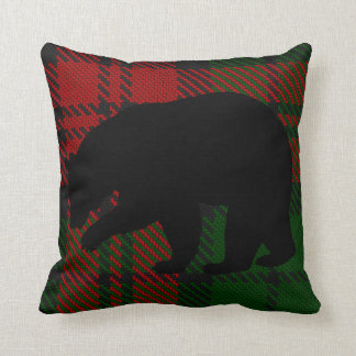 Red And Green Bear Pillow
