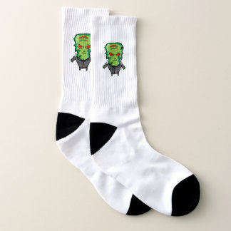 Red and green cartoon Halloween Frankenstein 1