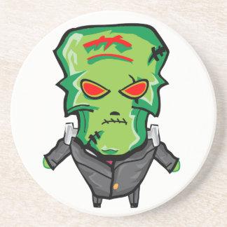 Red and green cartoon Halloween Frankenstein Coaster