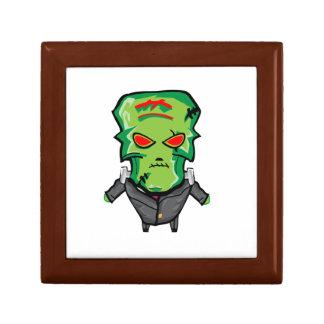 Red and green cartoon Halloween Frankenstein Gift Box