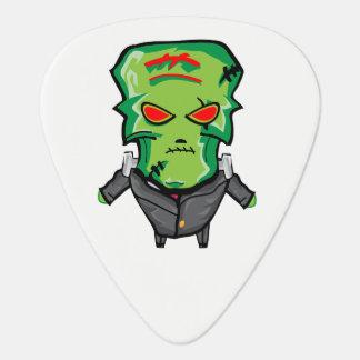 Red and green cartoon Halloween Frankenstein Guitar Pick