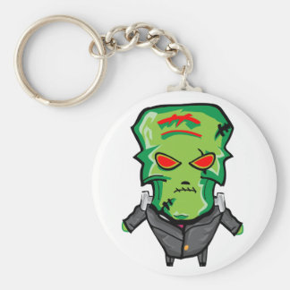 Red and green cartoon Halloween Frankenstein Keychain