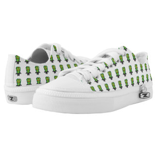 Red and green cartoon Halloween Frankenstein Low-Top Sneakers
