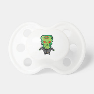Red and green cartoon Halloween Frankenstein Pacifier