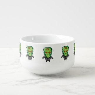 Red and green cartoon Halloween Frankenstein Soup Mug