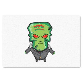 Red and green cartoon Halloween Frankenstein Tissue Paper