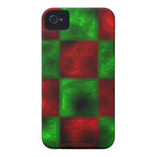 Red and Green Checkerboard blackberry Case