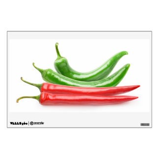 Red and green chili peppers wall sticker