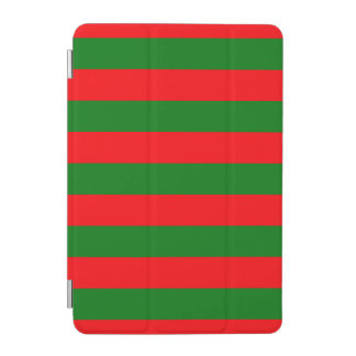 Red and Green Christmas Cabana Stripes iPad Mini Cover