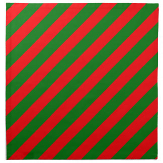 Red and Green Christmas Candycane Stripes Napkin