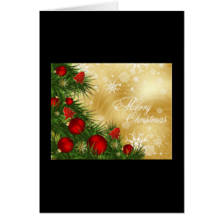 Red and Green Christmas Greeting Card