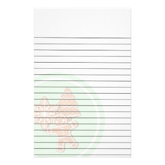 Red and Green Christmas Lights on Pinkread Cookies Stationery