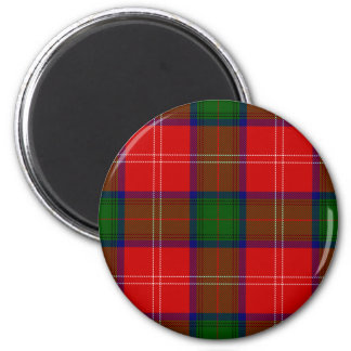 Red and Green Clan Chisholm Tartan Magnet
