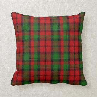Red and Green Clan Kerr Tartan Plaid Pillow
