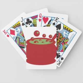 Red and Green Cooking Pot Bicycle Playing Cards
