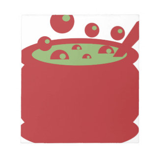 Red and Green Cooking Pot Notepad