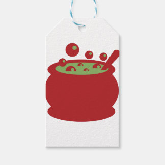 Red and Green Cooking Pot Pack Of Gift Tags