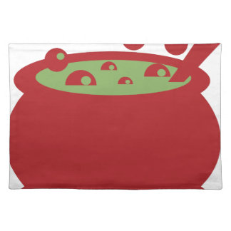 Red and Green Cooking Pot Placemat