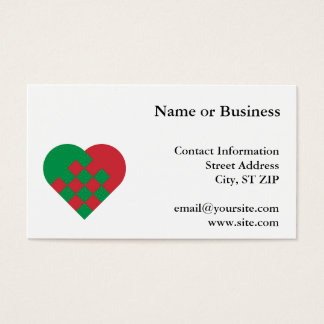 Red and Green Danish Heart Business Card