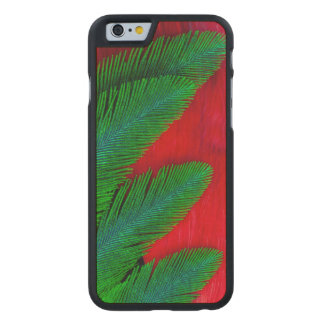 Red And Green Feather Abstract Carved Maple iPhone 6 Case