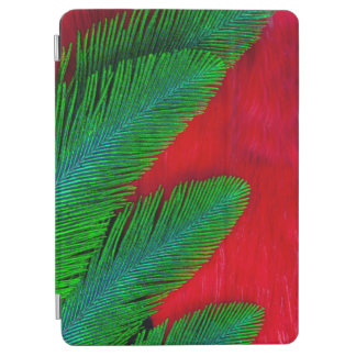 Red And Green Feather Abstract iPad Air Cover