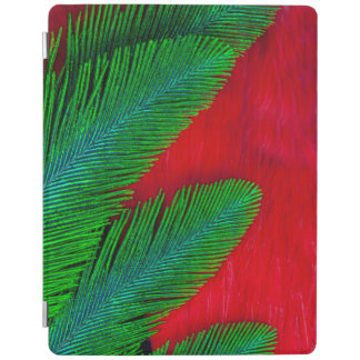 Red And Green Feather Abstract iPad Cover