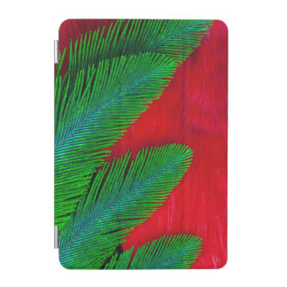 Red And Green Feather Abstract iPad Mini Cover