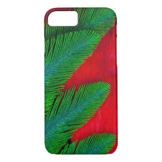 Red And Green Feather Abstract iPhone 8/7 Case