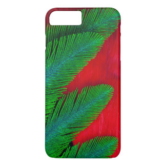 Red And Green Feather Abstract iPhone 8 Plus/7 Plus Case