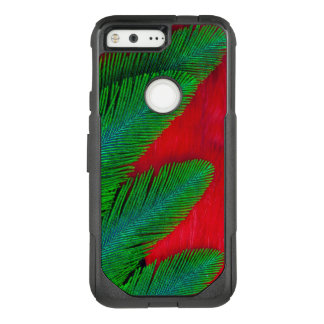 Red And Green Feather Abstract OtterBox Commuter Google Pixel Case