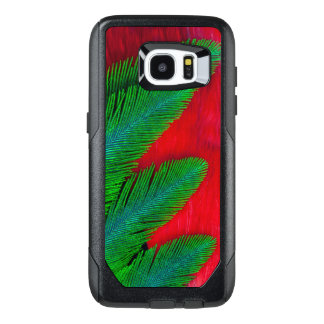 Red And Green Feather Abstract OtterBox Samsung Galaxy S7 Edge Case