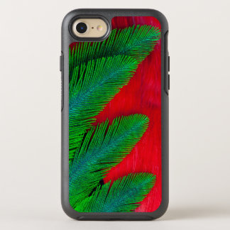 Red And Green Feather Abstract OtterBox Symmetry iPhone 8/7 Case