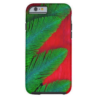 Red And Green Feather Abstract Tough iPhone 6 Case