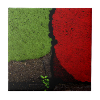 Red and Green Fine Art Photograph Tile