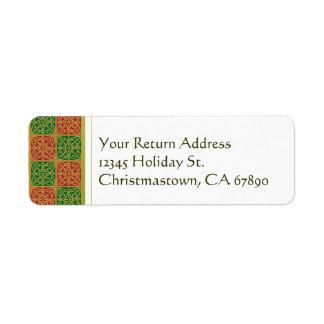 Red and Green Fleur de Lis Custom Address Labels