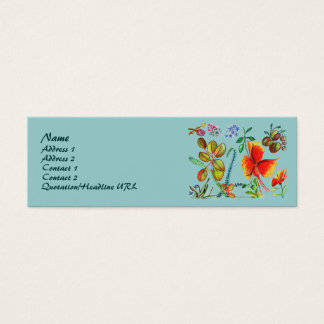 Red and Green Flower 58 Profile Card