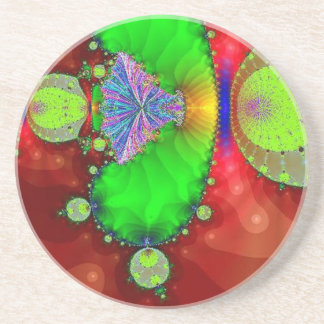 Red and Green Fractal Coaster
