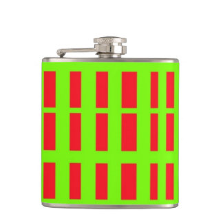 Red and Green Hip Flask