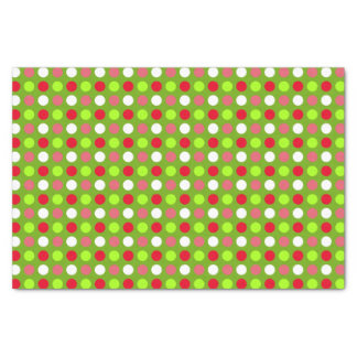 Red and Green Holiday Dots Mix Tissue Paper