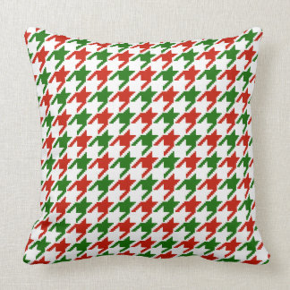 Red and Green houndstooth pillow