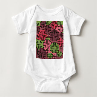 Red and green hypnoses baby bodysuit