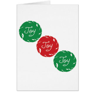 Red and Green Joy Christmas Card
