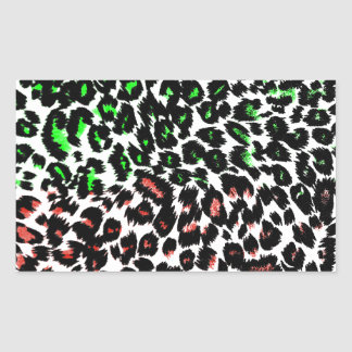Red and Green Leopard Spots