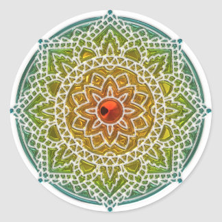 Red and green Mandala Sticker