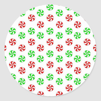 Red and Green mints Classic Round Sticker