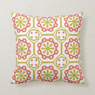 Red And Green Ornament Pattern Pillow