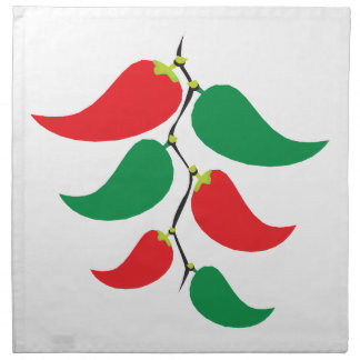 Red and Green Pepper Graphic on a string Printed Napkins