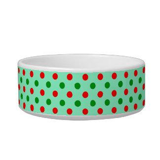Red and Green Polka Dots Bowl